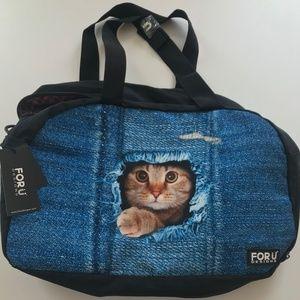Foru Designs Cat Duffle Bag - NWT